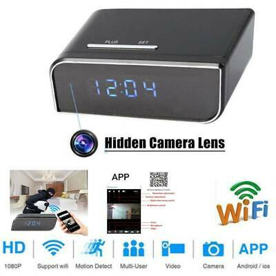HD 1080P Wireless Wifi IP Spy Hidden Camera Motion Security Alarm Clock IR Cam .