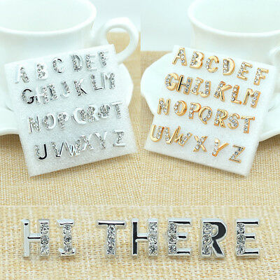 92125e131 Silver Gold Plated Unisex Initial Alphabet Earrings Letter A Z stud Jewelry  Gift