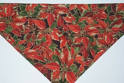 Dog Bandana, OVER THE COLLAR, pet, clothes, Size S,M,L,XL, Christmas Poinsettia!
