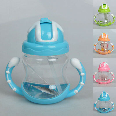 320ML Horn Handle Shape Baby Child Train Straw Water Kettle Bottle Fashion Mini