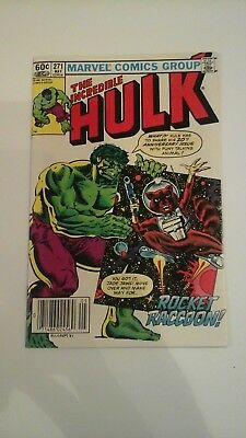 The Incredible Hulk #271 VF(May 1982, Marvel) early rocket racc. 1st cover app.