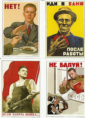 16 postcards. Soviet poster from the USSR. Russia