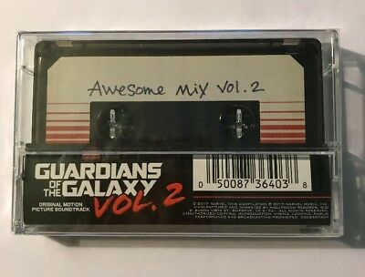 GUARDIANS OF THE GALAXY Awesome Mix Vol. 2 Exclusive Cassette Tape In Shrink