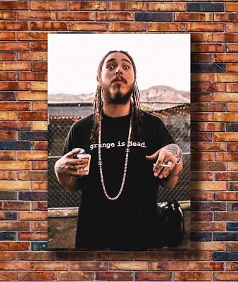 T2570 20x30 24x36 Silk Poster Post Malone Custom Rap Music Singer Star Art Print
