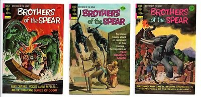 Brothers of the Spear 8 9 10 (Gold Key) 3 Comic Lot High Grade