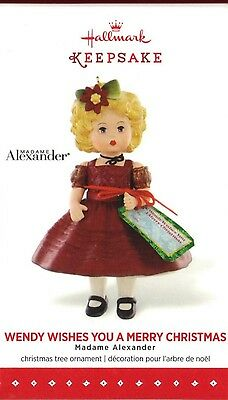 Hallmark Madame Alexander Ornament Wendy Wishes You A Merry Christmas Doll