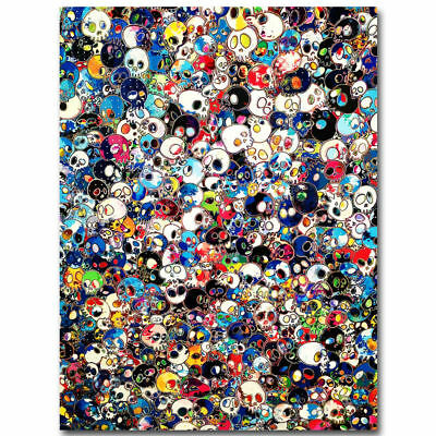 36x24 40 Inch G063 Takashi Murakami Japanese Pop Trippy Skull Poster Silk Decor
