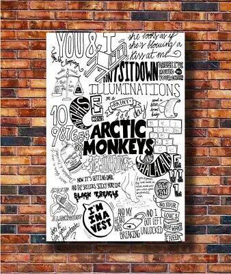Art British Rock Band Arctic Monkeys Abstract Comic Poster 20x30 24x36 P50