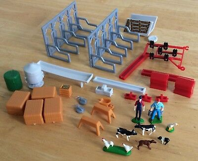 Ertl Country Farm Assorted Replacement  Farmers Animals Feeders Stanchions +More