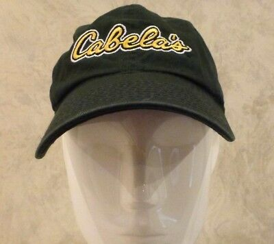 aa59cdab5ce Cabelas Embroidered Logo Cap Hat Forest Green Adjustable Strapback
