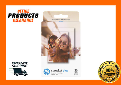 HP SPROCKET PLUS 20 SHEET ZINK PHOTO PAPER 2.3x3.4""