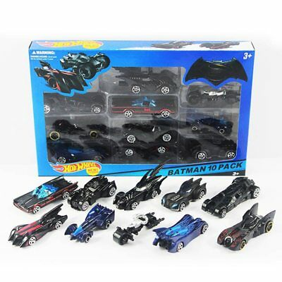 10pcs Batman Batmobile Hot Wheels Diecast Cars 1:64 The Dark Night Metal Toy Car