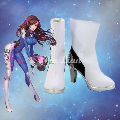 Overwatch OW D.VA Shoes High Heels Boots Battle Japanese Anime Cosplay Costume