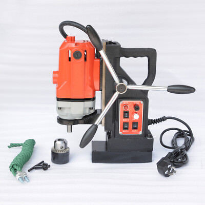 "GLF Magnetic Drill Press Rotate Stepless Speed 0.6"" Boring Cutter Tool  220V"