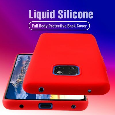 Luxury Liquid Silicone Case For Huawei Mate 20 10 Pro Soft Ultra Thin Back Cover