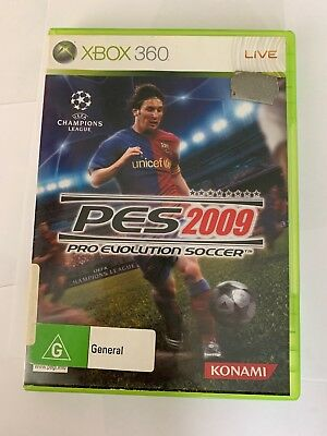 Xbox 360 - PES 2009 - Pro Evolution Soccer - Good Condition Including Manual