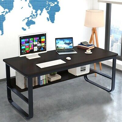 Simple Wood Computer Desk PCLaptop Table Workstation Study Home Office Furniture