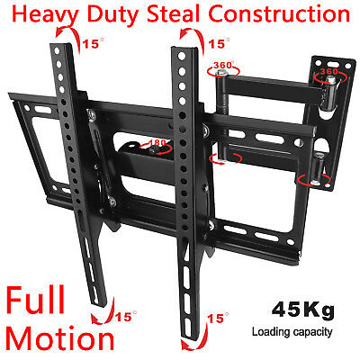 "26-52"" inch 45kg LCD LED Plasma TV XL Large Slim Tilt Wall Mount Bracket Selby"