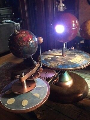 Sun Moon Earth Tellurian Orrery Solar System Model Great Valentines Day Gift