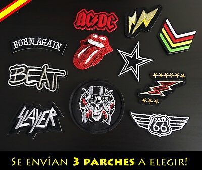 Parche Bordado Ropa Costura Adorno Plancha Slayer AC DC Motero Rock Punk Regalo