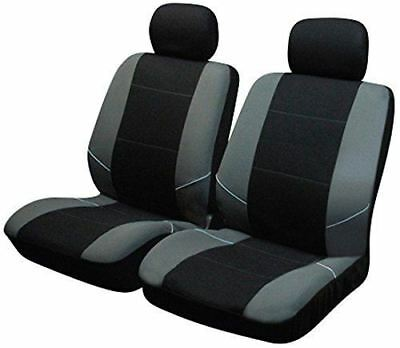 Black/Grey Front Pair of Car Seat Covers for Vauxhall Astra Estate All Models