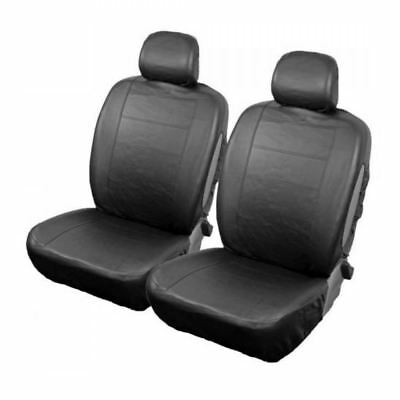Black/Grey Front Pair of Car Seat Covers for Mercedes-Benz E-Class All Years