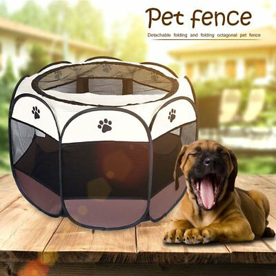 Large 8 Panel Portable Puppy Dog Pet Cat Playpen Crate Cage Kennel Tent Play Pen