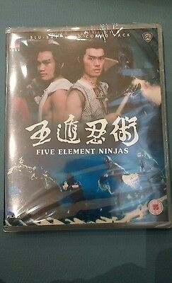 FIVE ELEMENT NINJAS  BLU-RAY & DVD COMBO  CHANG CHEH VENOMS NEW Sealed