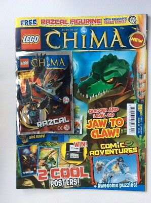 Lego Legends of Chima magazine comic Issue #2 Limited Edition Razcal Toy
