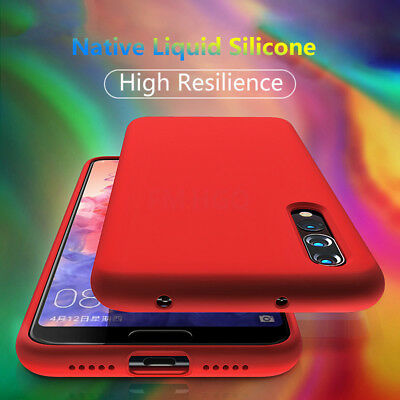 Liquid Silicone Case For Huawei P30 P20 Pro P10 Plus Soft Ultra Thin Back Cover