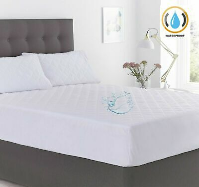 New Quilted Waterproof Mattress Protector Excellent Top Hotel Quality 30 cm Deep