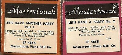 Pianola Rolls  x 2 Mastertouch - Lets have a Party 10 tunes