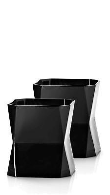 Cibi Double Old Fashon Blade Runner Glass (Twin Pack) (Black) 37cl