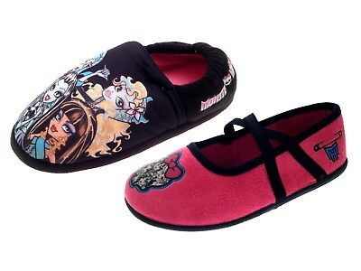 Monster High Slippers Girls Indoor Pink Mules Character Shoes Kids Gift Size