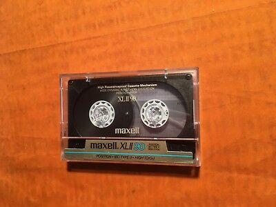 1 x Maxell XL II 90 Cassette,IEC II/High Position,Top Zustand,rare,1986