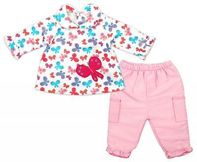 Girls Top Trousers Frill Long Sleeve Butterfly Print Baby Outfit 6 to 12 Months
