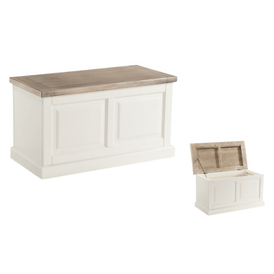 St Ives Painted Blanket Box - Rustic Toy Chest - White Storage Box