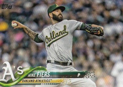 (25) 2018 Topps Update MIKE FIERS Base Card LOT #US225 Athletics