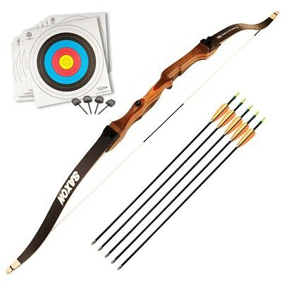 """Armex Saxon Archery Recurve Complete Bow kit Adult, RIGHT Hand, 68"""" 26 Lbs"""