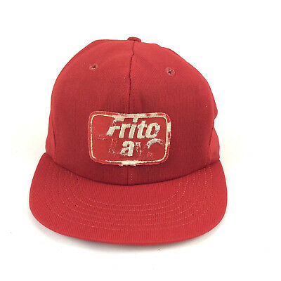 d9ae431b18c Frito Lay Destroyed Trashed Trucker Hat Logo Patch Red Foam Mesh Snapback