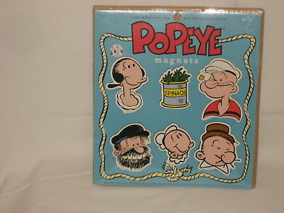 Rare NEW Popeye Set of 5 Magnets Blue Q 1995