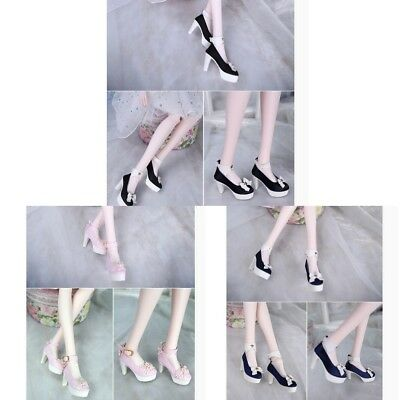 1/3 Fashion Bowknot High Heels Shoes for BJD SD 60cm Dolls Clothes DIY Accs