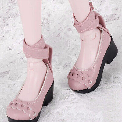 Pair of Adorable Pink Mini Doll Shoes for 1/4 BJD Shoes Doll Accessories