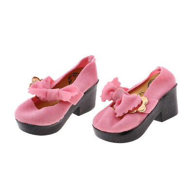 1 Pair Adorable Pink Mini Doll Shoes for 1/4 BJD Shoes Doll Accessories