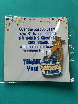 Toys R Us Geoffrey 65 Years Commemorative Employee Pin - 2013 - In The Package