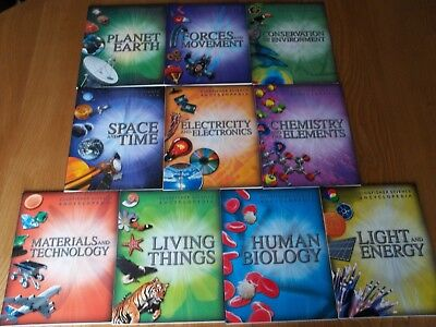 Set Of 10 Kingfisher Science Encyclopedias - For Older Children and Teenagers