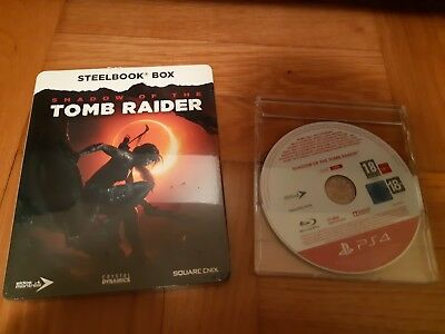 Shadow of the Tomb Raider PS4 RARE PROMO Full Game + Limited Steelbook