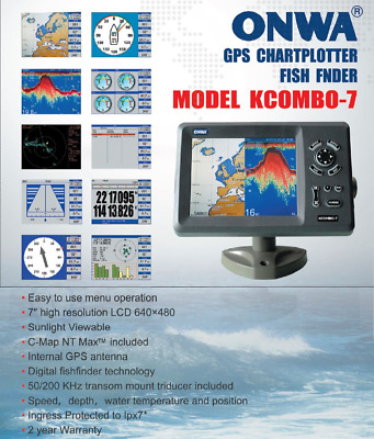 Traceur Fishfinder GPS/Sondeur - option AIS - Cartographie  inclue