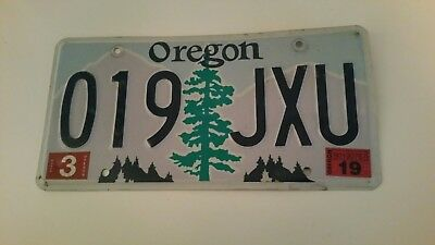 plaque d'immatriculation Orégon us 019 JXU Usa license plate