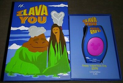 2019 Disney Parks Valentines Day I Lava You Magic Band Magicband LE New IN STOCK